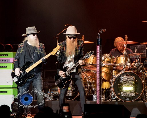 ZZ Top performing in St. Louis in 2017. Photo by Sean Derrick/Thyrd Eye Photography.