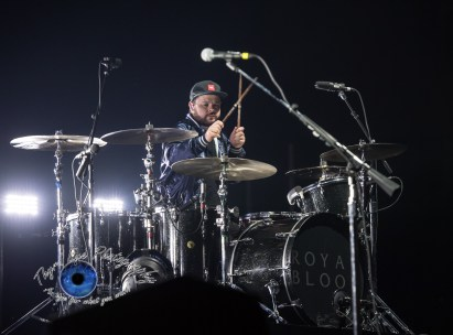 Ben Thatcher of Royal Blood performing at Peabody Opera House in Saint Louis. Photo by Sean Derrick/Thyrd Eye Photography.