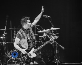 Mike Kerr of Royal Blood performing at Peabody Opera House in Saint Louis. Photo by Sean Derrick/Thyrd Eye Photography.