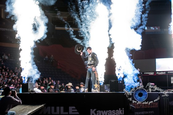 Dener Barbosa prior to competing in the PBR Saint Louis Invitational. Photo by Sean Derrick/Thyrd Eye Photography.