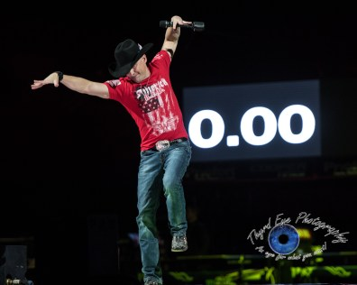 Ryan Weaver performing before the PBR Saint Louis Invitational. Photo by Sean Derrick/Thyrd Eye Photography.