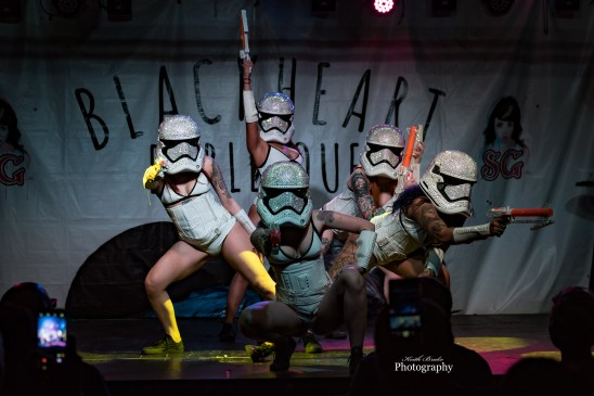 SuicideGirls Blackheart Burlesque performing at The Ready Room Wednesday. Photo by Keith Brake Photography.