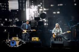 Vince Gill and Timothy B. Schmit of the Eagles performing at Scottrade Center in Saint Louis Sunday. Photo by Sean Derrick/Thyrd Eye Photography.