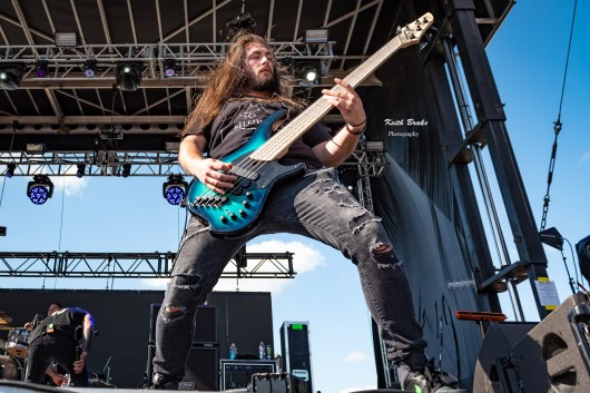 Bad Wolves performing at Rockfest in Kansas City. Photo by Keith Brake Photography.