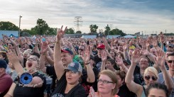 Crowd during Flogging Molly's performance Tuesday at Pops. Photo by Sean Derrick/Thyrd Eye Photography.