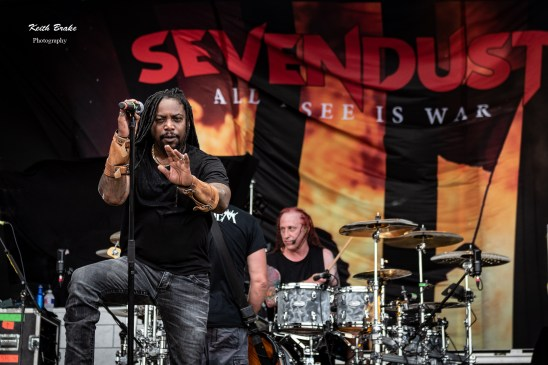 Sevendust performing at Rockfest in Kansas City. Photo by Keith Brake Photography.