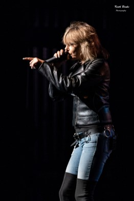 Chrissie Hynde of the Pretenders performing Wednesday at Stifel Theatre in Saint Louis. Photo by Keith Brake Photography.