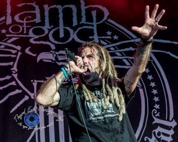 Lamb of God performing in Saint Louis at Hollywood Casino Amphitheatre. Photo by Sean Derrick/Thyrd Eye Photography.