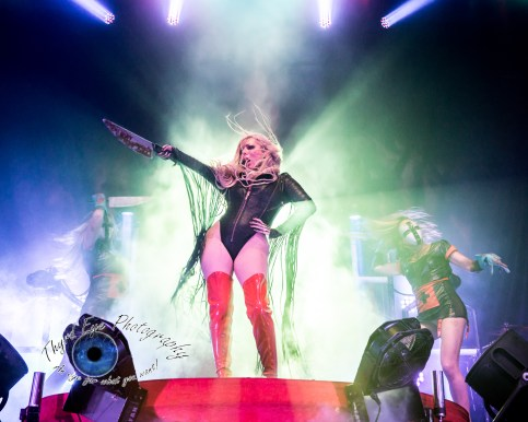 In This Moment performing in Saint Louis in 2017. They will return November 29 at the Stifel Theatre with Halestorm. Photo by Sean Derrick/Thyrd Eye Photography.
