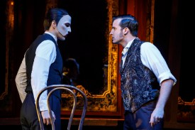 """Devil Take the Hindmost"" starring Bronson Norris Murphy (""The Phantom"") and Sean Thompson (""Raoul, Vicomte de Chagny""). Photo: Joan Marcus."