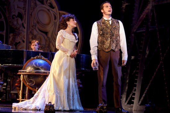 """Jake Heston Miller (""""Gustave""""), Meghan Picerno (""""Christine Daaé"""") and Sean Thompson (""""Raoul, Vicomte de Chagny"""") star in Love Never Dies. Photo: Joan Marcus."""