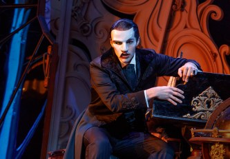 "Bronson Norris Murphy (""The Phantom"") stars in Love Never Dies. Photo: Joan Marcus."