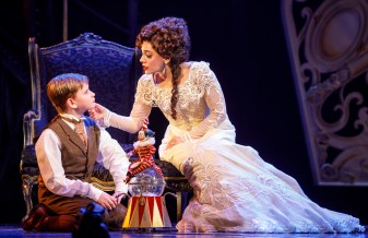 "Jake Heston Miller (""Gustave"") and Meghan Picerno (""Christine Daaé"") star in Love Never Dies. Photo: Joan Marcus."