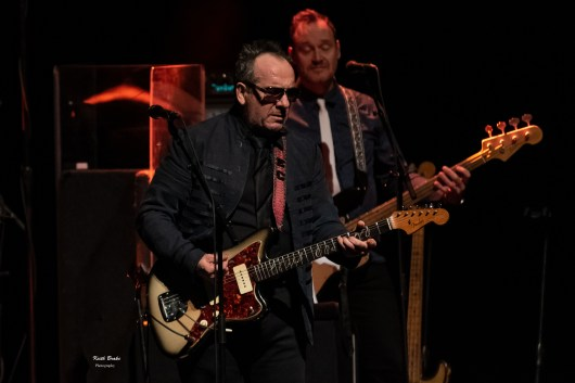 Elvis Costello performing Wednesday night at the Stifel Theatre in Saint Louis. Photo by Keith Brake Photography.