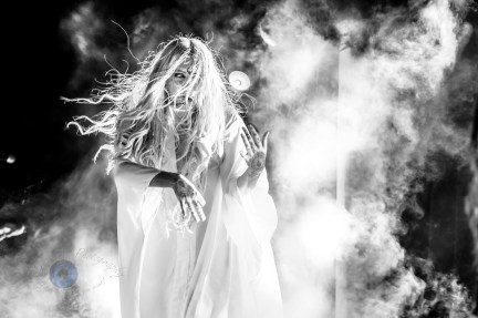 Maria Brink of In This Moment performing at Stifel Theatre in Saint Louis Thursday night. Photo by Sean Derrick/Thyrd Eye Photography.