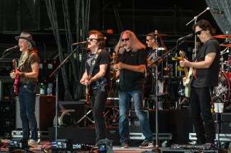 The Doobie Brothers at the Hollywood Amphitheatre by Keith Brake.