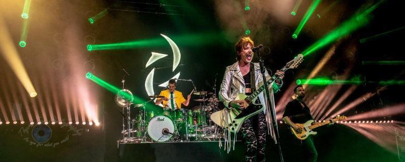 Halestorm opening for Alice Cooper Thursday at Hollywood Casino Amphitheatre in Saint Louis. Photo by Sean Derrick/Thyrd Eye Photography.