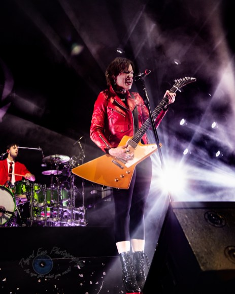 Halestorm performing in Saint Charles, MO. Photo by Sean Derrick/Thyrd Eye Photography.
