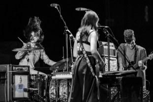 Le Butcherettes performing at Stifel Theatre in Saint Louis. Photo by Sean Derrick/Thyrd Eye Photography.
