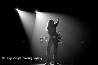 Lita Ford performing at Chaifetz Arena in 2012. Photo by Sean Derrick/Thyrd Eye Photography.