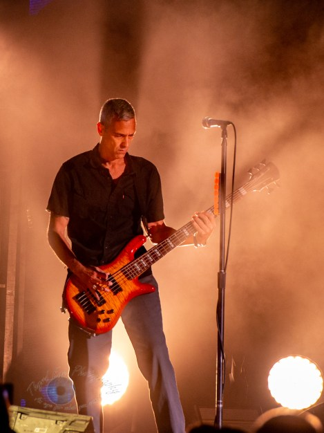 Johnny April of Staind performing at Hollywood Casino Amphitheatre Sunday. Photo by Sean Derrick/Thyrd Eye Photography.