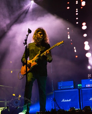 Larry LaLonde of Primus performing at Saint Louis Music Park Tuesday. Photo by Sean Derrick/Thyrd Eye Photography.