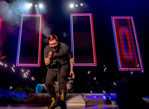 Shinedown performing at Pointfest 2021 at Hollywood Casino Amphitheatre on Sunday. Photo by Sean Derrick/Thyrd Eye Photography.