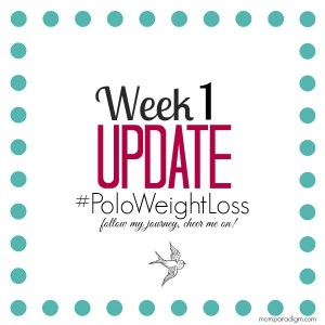 Week 1 UPDATE: Being Hungry Terrifies Me #PoloWeightLoss
