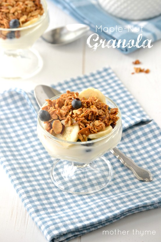 Maple-Nut Granola - www.motherthyme.com