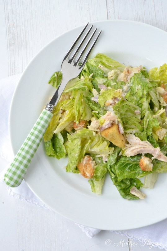 Caesar Salad Dressing   www.motherthyme.com
