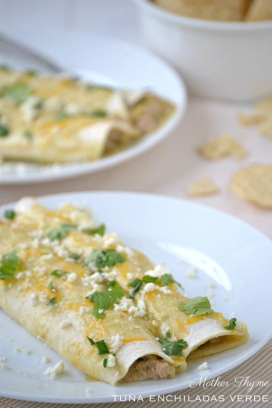 Tuna Enchiladas Verde | www.motherthyme.com
