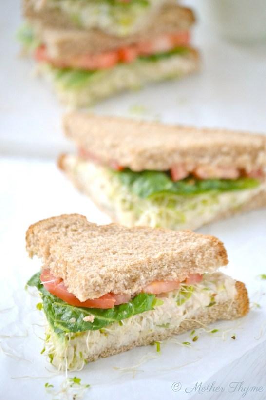 Deli-Style Tuna Fish Salad Sandwich   www.motherthyme.com