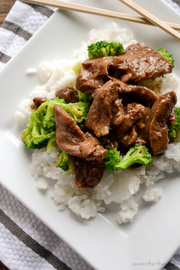 Slow Cooker Beef and Broccoli | www.motherthyme.com