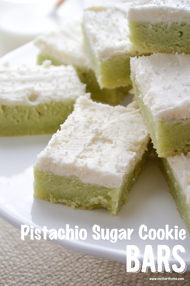 Pistachio Sugar Cookie Bars from www.motherthyme.com