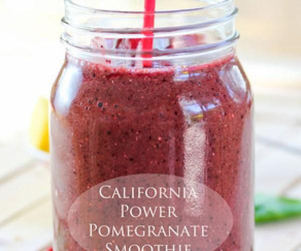 California Power Pomegranate Smoothie