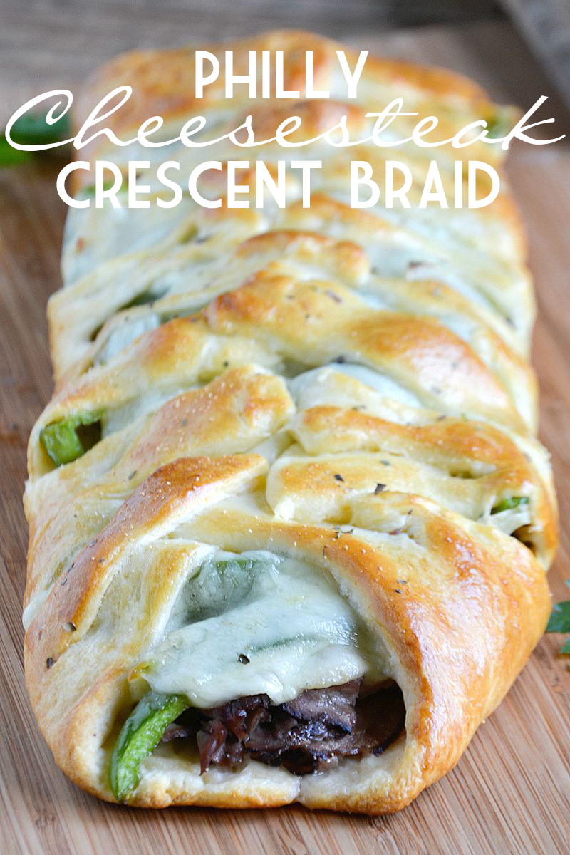 Philly Cheesesteak Crescent Braid | Mother Thyme
