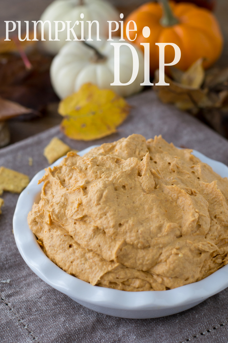 Creamy Pumpkin Pie Dip that only requires 3 ingredients and will get you dipping in no time!