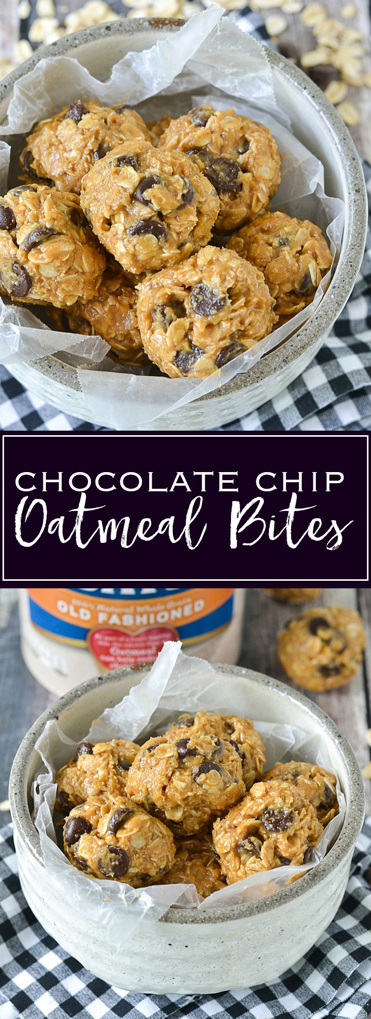 Chocolate Chip Oatmeal Bites | www.motherthyme.com