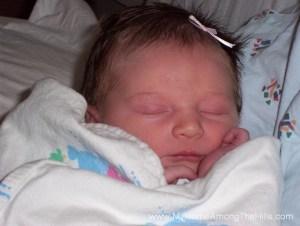 Abigail at birth