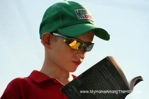 Isaac reading