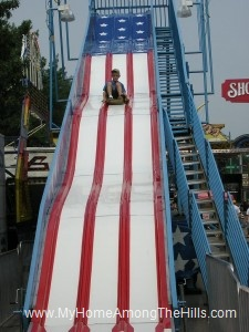 Isaac on the slide