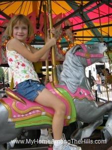 Abigail on the carousel