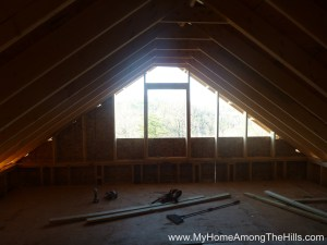 The open gable in our small cabin in WV