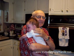 Grandpa with Abigail
