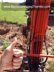 Running an excavator