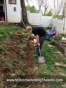Digging a ditch