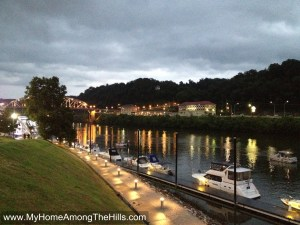 Boats at the levee - Charleston, WV
