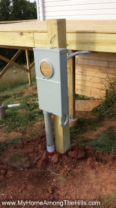 Electrical meter on post