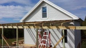 Building the porch roof