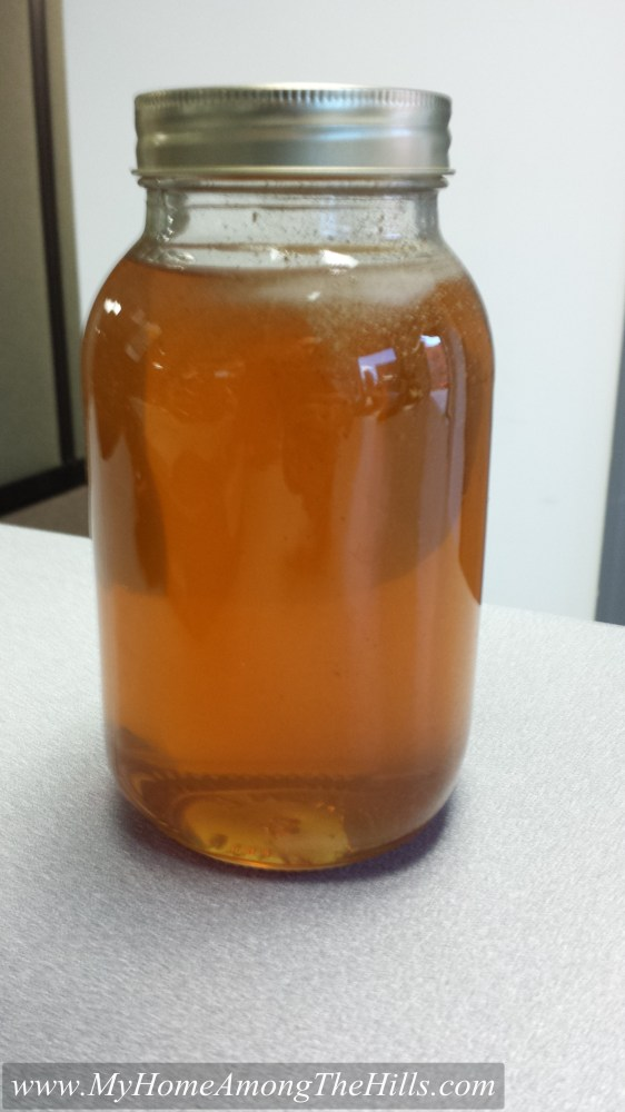 One of the jars of honey this year